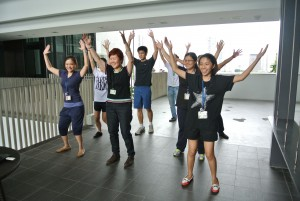 HPB Singapore Women working out