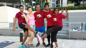 FuelFit Singapore Team Woodlands working out together