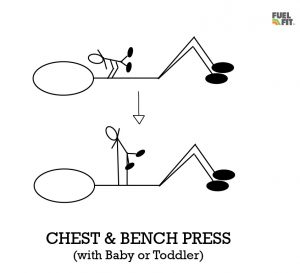 Dad & Baby Chest Bench Press