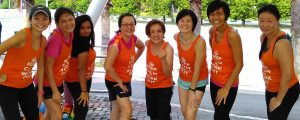 fit mothers in bishan posing exercising